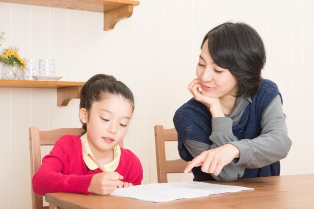 お母さんと一緒に中学受験の勉強