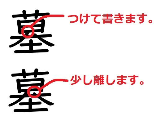 間違いやすい漢字「墓」