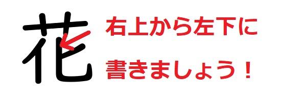 間違いやすい漢字「花」